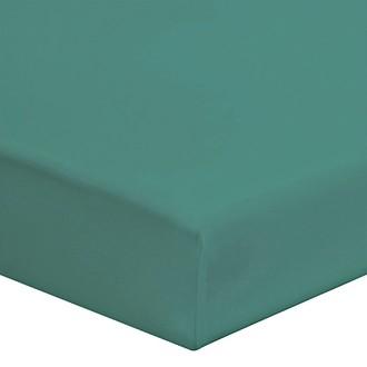 Zodio - drap housse en coton bleu paon 160x200cm