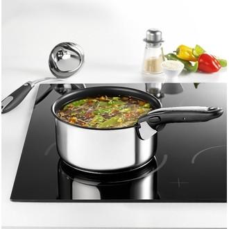 TEFAL - Set de 3 casseroles avec poignée amovible en inox 16, 18 et 20cm
