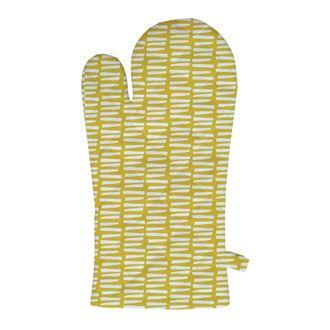 ZODIO - Gant de cuisine imprimé goutte 100% coton moutarde