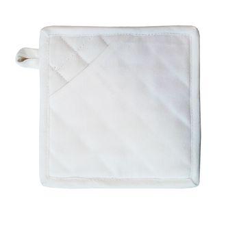 ZODIO - Manique de cuisine 100% coton blanc
