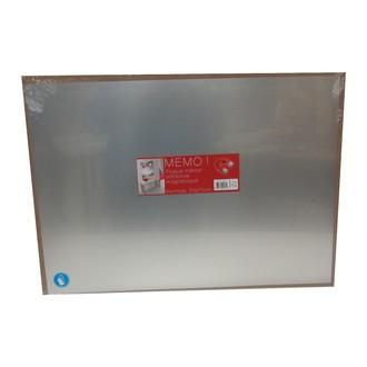 Plaque magnétique brossé 50x70cm avec adhésifs