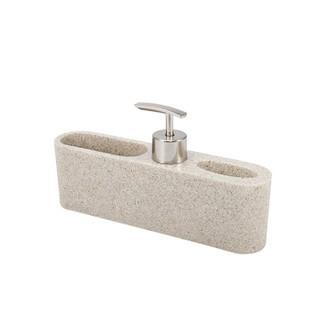 Distributeur de savon et porte éponge sable