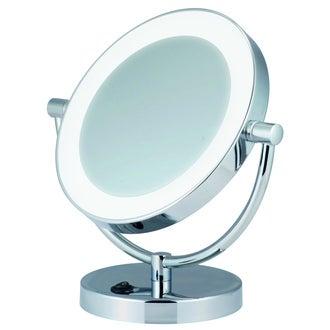 Miroir grossissant lumineux à poser double face X5 diamètre 17cm