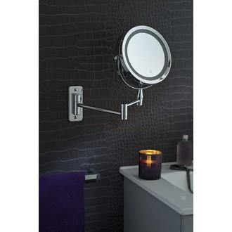 Miroir grossissant lumineux tactil à fixer X5 diamètre 17cm