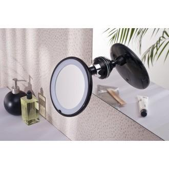 Miroir grossissant lumineux rotatif à ventouse X3