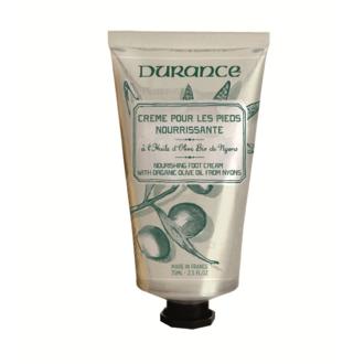DURANCE - Crème nourrissante pour les pieds l'extrait de feuille d'oliver 75ml
