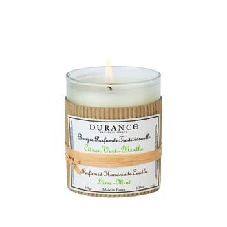 DURANCE - Bougie parfumée traditionnelle citron vert menthe 180 gr