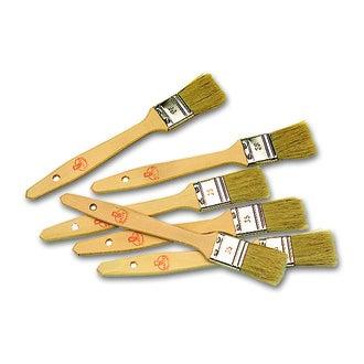 MATFER- Lot de 3 pinceaux manche bois lg 35 mm, soie de porc