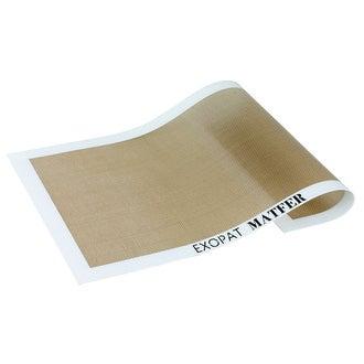 EXOPAT - Toile de cuisson anti-adhérente tricot de verre et silicone  40X30cm