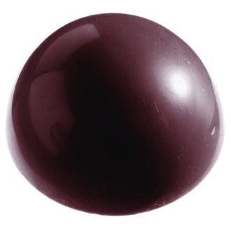 MAT FER - Moule à chocolats 15 demi-sphères en polycarbonate 3,9cm