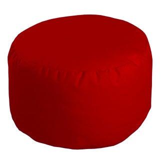Pouf rond cerise Roméo 50x30cm