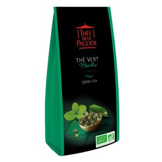 THE DE LA PAGODE Thé vert menthe bio en paquet