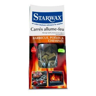 STARWAX - Sac de 72 carrés allume feu naturels