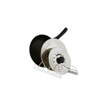 COMPACTOR - Support pour couvercles et poêles blanc 30x14x6,7cm
