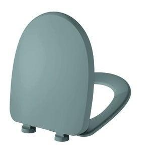 Abattant de toilette silencieux gris