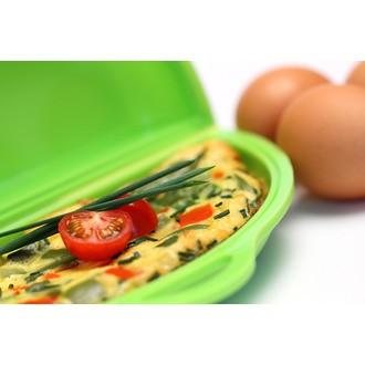 Cuit à omelette en silicone vert