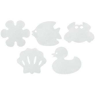 Set de 6 caillebotis antidérapantes - adhésifs blanc