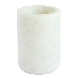 Gobelet à dents en marbre et laiton Lou