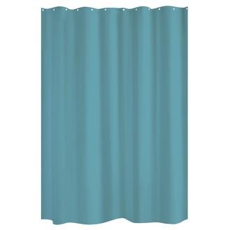 ZODIO - Rideau de douche bleu paon - 180x200cm
