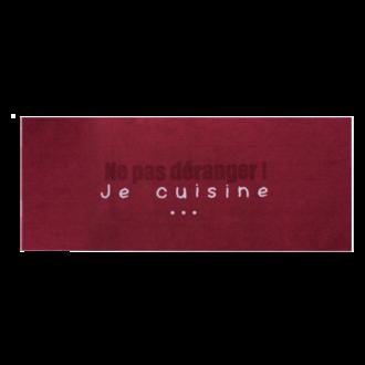 Tapis de cuisine antidérapant Ne pas déranger noir 50x120cm