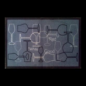 Tapis de cuisine antidérapant Verres gris 50x75cm