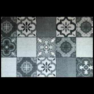 Tapis anti-poussière en polyamide gris 50x75cm