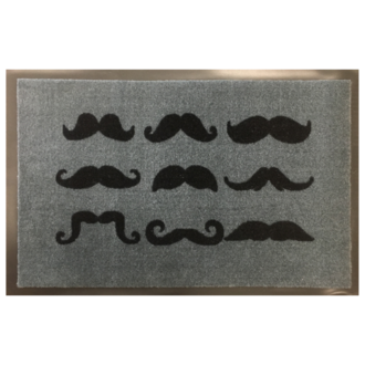 Tapis de propreté imprimé moustache 40x60cm