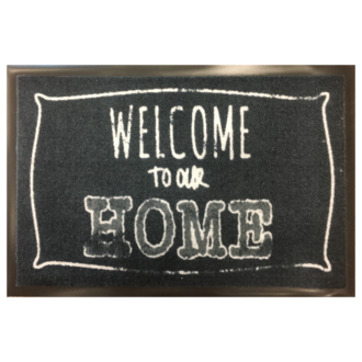 Tapis propreté welcome to our home 40x60cm