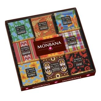 MONBANA - Boîte de 12 carrés de chocolat pays des producteurs de café