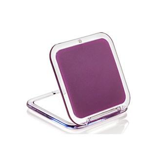 Miroir de sac grossissant carré double face X5 Rubis 8,5x5,5cm