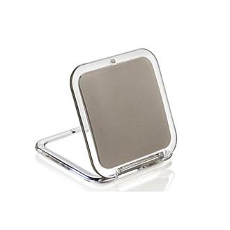 Miroir de sac grossissant carré double face X5 Bronez 8,5x5,5cm