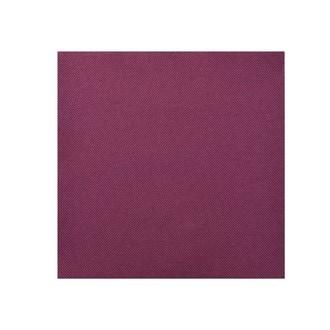 Paquet de 50 serviettes unies aubergine 20x20cm