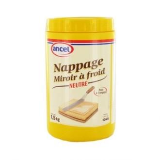 ANCEL - Nappage miroir à fond neutre prêt à l'emploi pour pâtisserie en pot 1,5kg