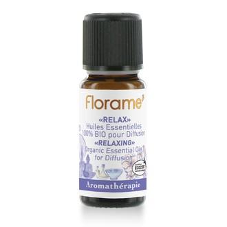 FLORAME - Compositions d'huiles essentielles biologiques relax 10ml