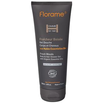 FLORAME - Gel douche corps & cheveux Fraîcheur Boisée 200ml