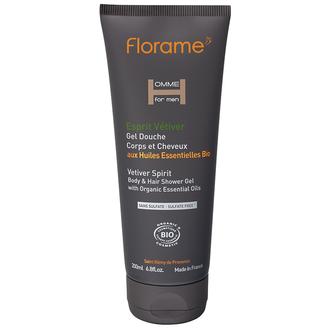 FLORAME - Gel douche corps & cheveux Esprit Vétiver 200ml