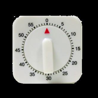Minuteur mécanique carré 60min 6cm