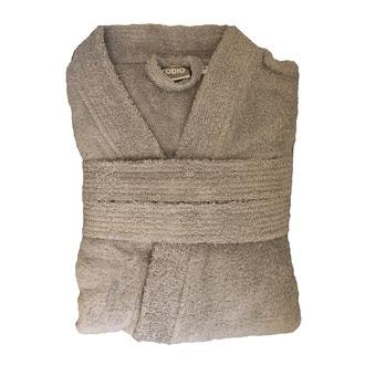 0032a171b7ef08 ZODIO - Peignoir en coton éponge gris carton Taille XL