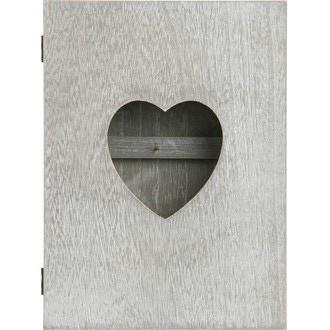 Boîte à clés coeur en bois