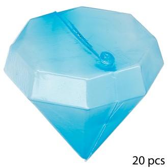 Lot de 20 glaçons réutilisables en forme de diamant