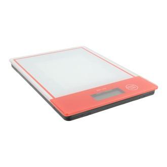 Balance digitale rectangulaire en verre rouge