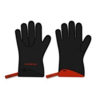AUBECQ - Paire de gants cuisine néoprène noir (taille L)