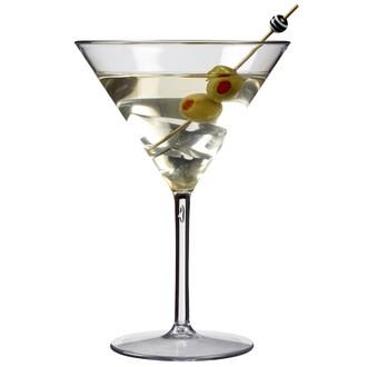 Verre à Martini en plastique 250mL