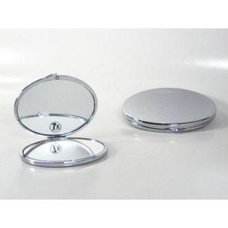 Miroir de sac ovale chromé
