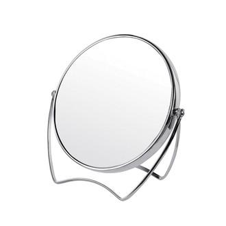 Miroir à poser rond en métal chromé Ø15cm