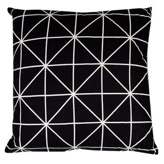 Coussin de sol carré noir Flave 60x60cm