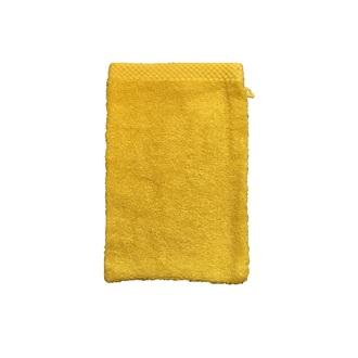 Zodio - gant de toilette en coton éponge moutarde