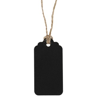 marque-places  rectangulaires noirs en sachet de 6