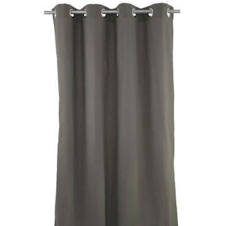 ZODIO - Rideau gris cendré Louise 140x260cm
