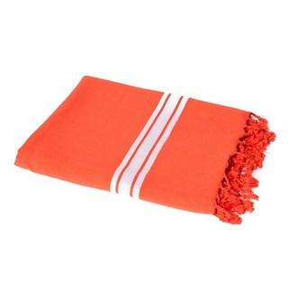 Drap de plage en coton mandarine 90x180